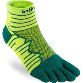 Injinji Run Technical Mini Crew Socks Men, amarillo/verde